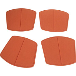 """Set of 4 orange seatpads for Knoll International Harry Bertoia """"Wire Chair"""" - 1960s"""