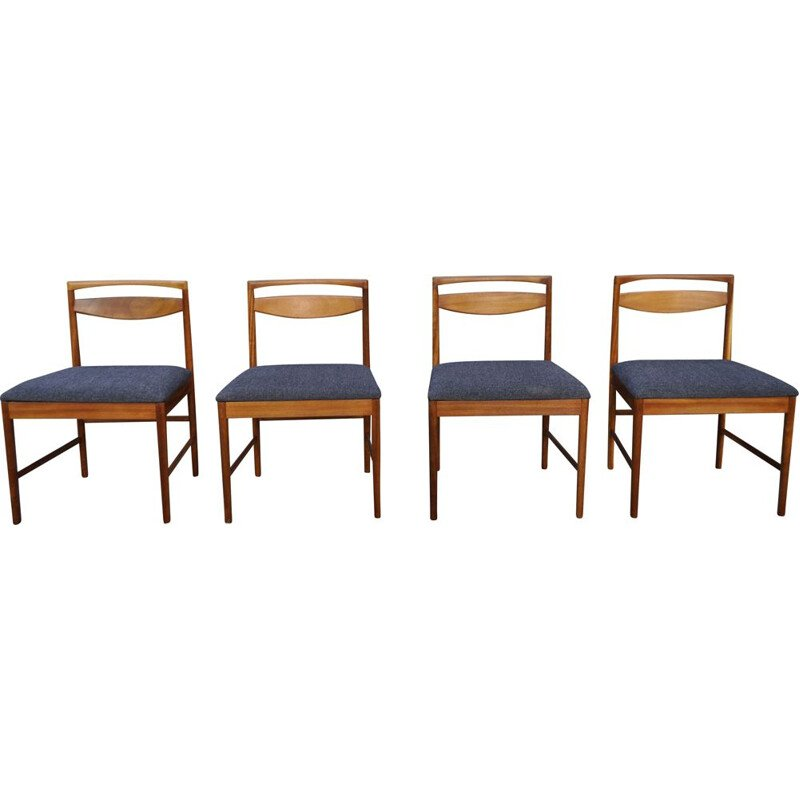 Set of 4 vintage teak chairs by Tom Robertson for Mcintosh 1960