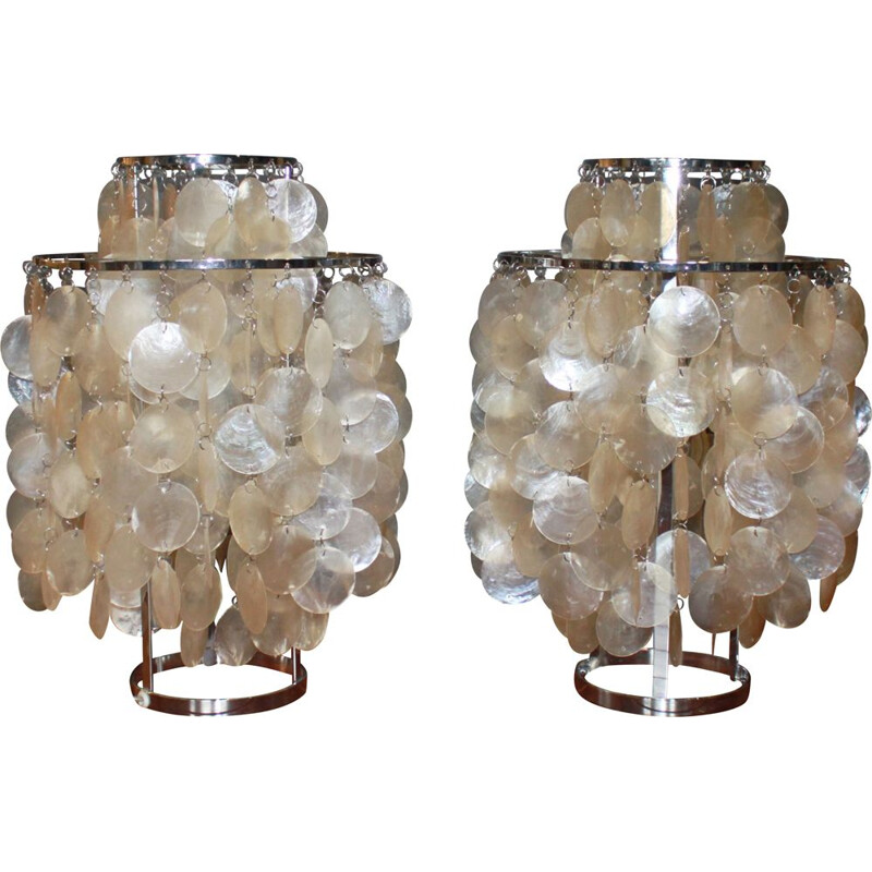 Pair of vintage Fun 2 TM lamps by Verner Panton