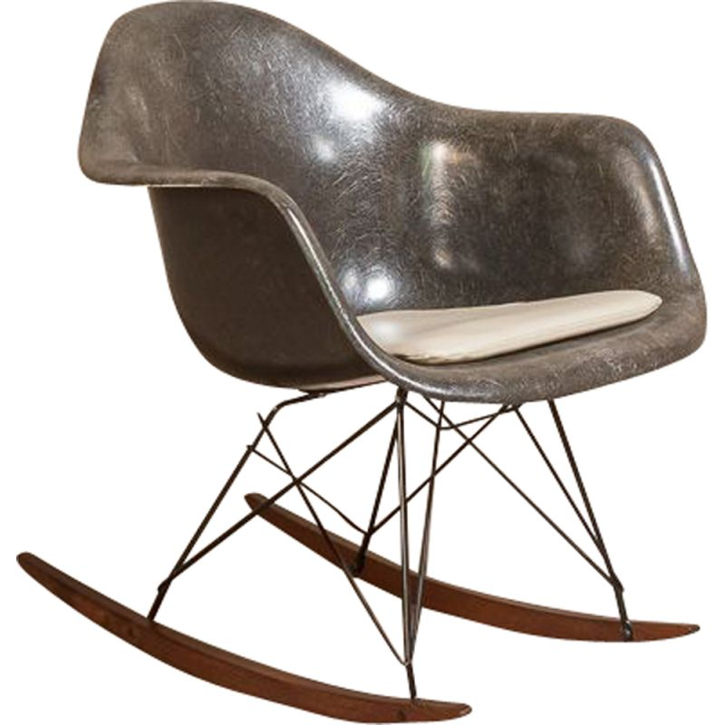 RAR armchair vintage for Herman Miller Vitra by Charles & Ray Eames, Fiberglass Shell moulded 1950