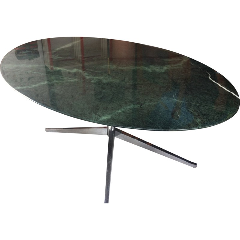 Green Marble Oval Table Florence Knoll 1980s Design Market