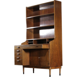 Large mid-century secretary in teak - 1950s