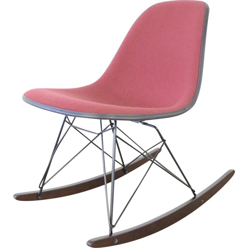 Vintage side chair rocking chair by Charles & Ray Eames by Herman Miller 1950s