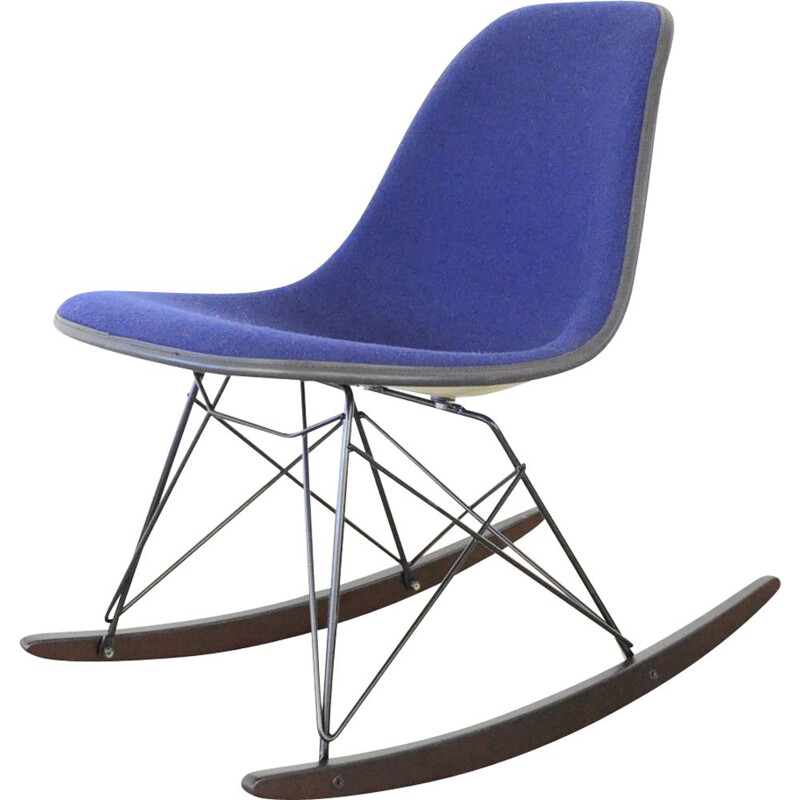 Vintage side chair rocking chair by Charles & Ray Eames Herman Miller 1950s