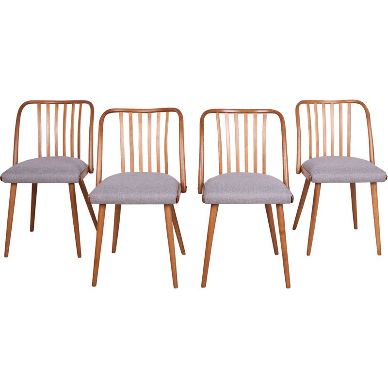 Set of 4 vintage Dining Chairs by Antonin Suman for Ton, 1960s