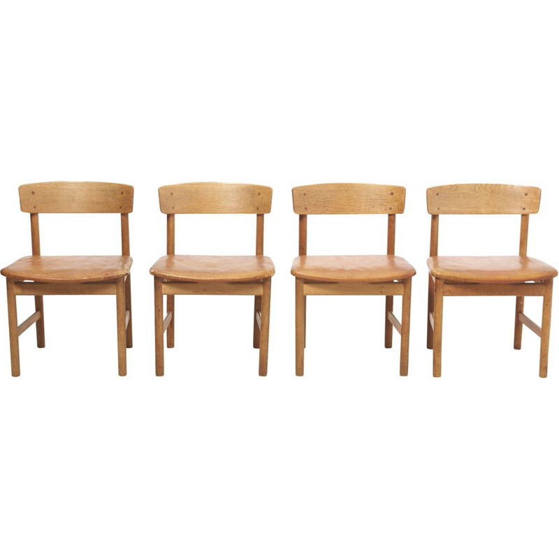Set of 4 vintage Dining Chairs Model 236 by Børge Mogensen for Fredericia, Denmark - 1950s