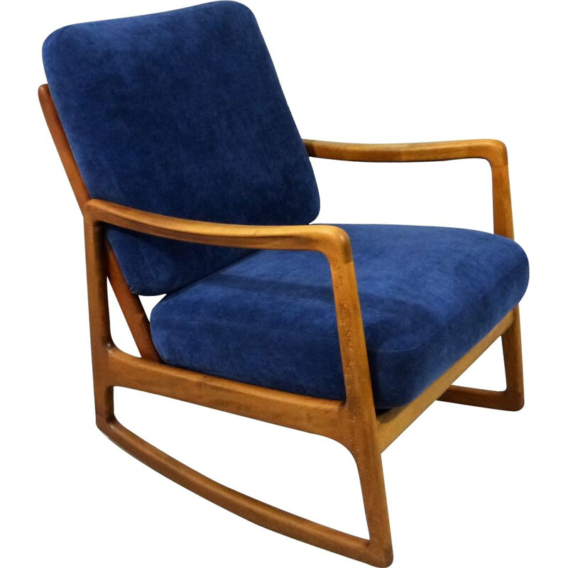Vintage Rocking chair model 120 by Ole Wanscher for France & Daverkosen, Denmark 1950