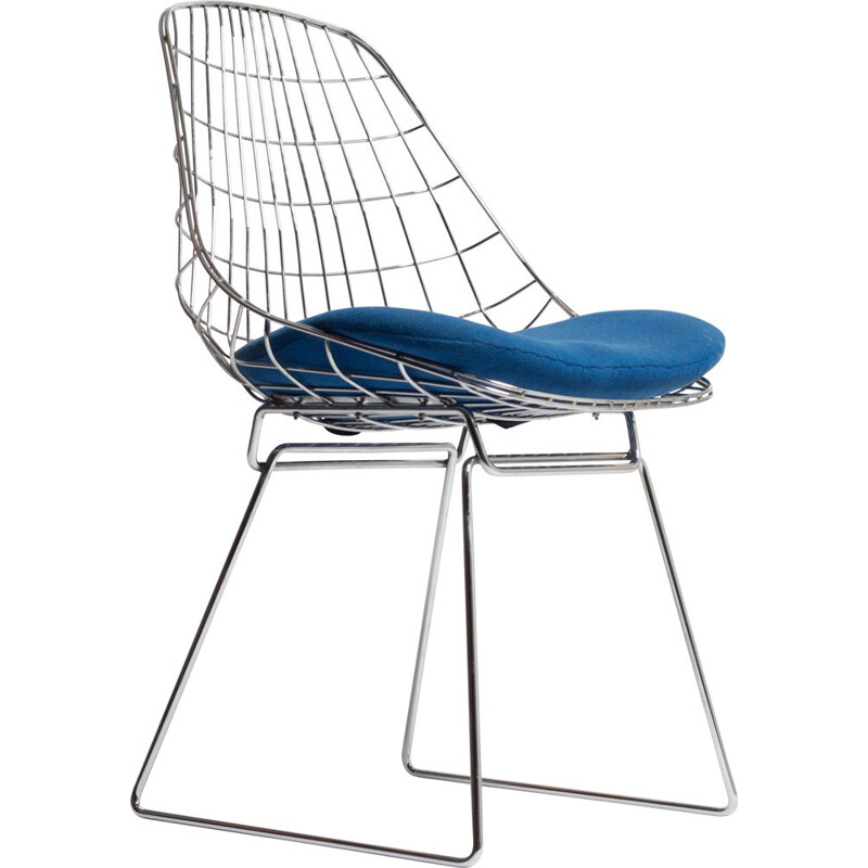 Vintage SM05 by Cees Braakman, Wire Chair Pastoe