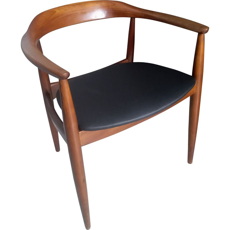 Vintage teak armchair by IllUM Wikkelso for Danish Niels Eilersen 1960