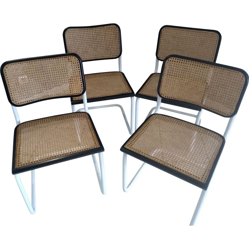 Suite of 4 Vintage Chairs Cesca B32 by Marcel Breuer 1990