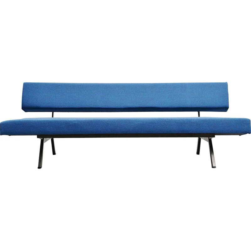 Vintage blue daybed sofa Dutch 1960