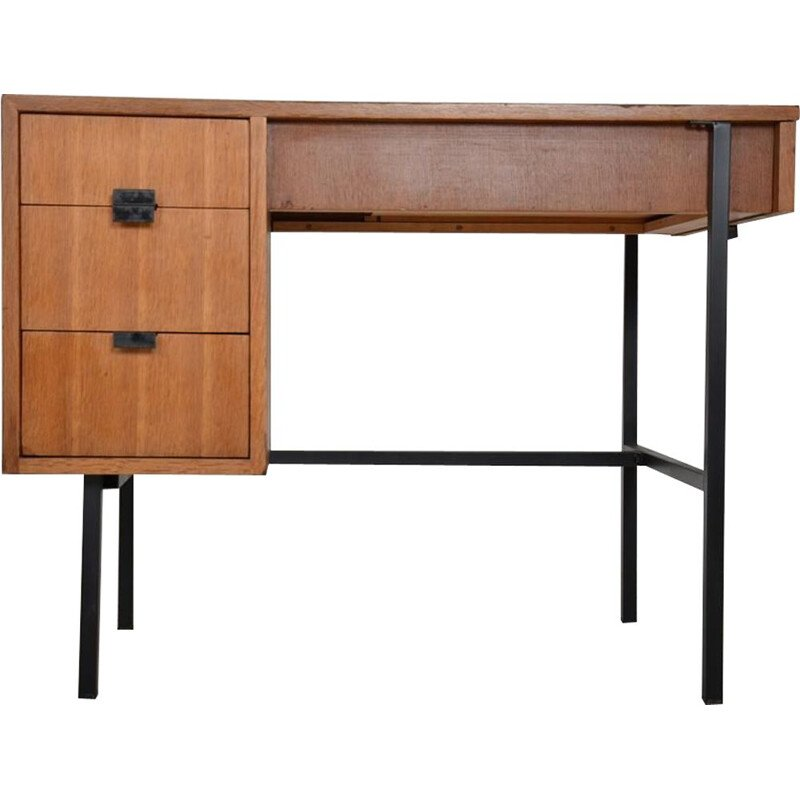 Vintage multitable desk by Jacques Hitier 1950