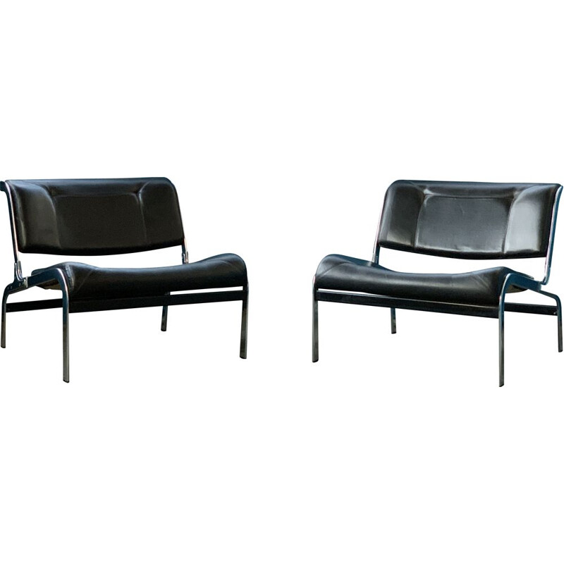 Pair of vintage armchairs Whist Olivier Mourgue Airborne edition  1964