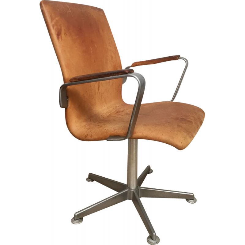 Vintage Oxford office chair by Arne Jacobsen, 1960