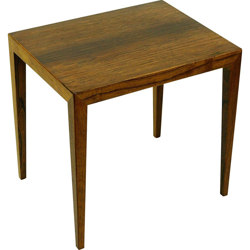 Vintage Rosewood Side Table by Severin Hansen for Haslev Danish 1960