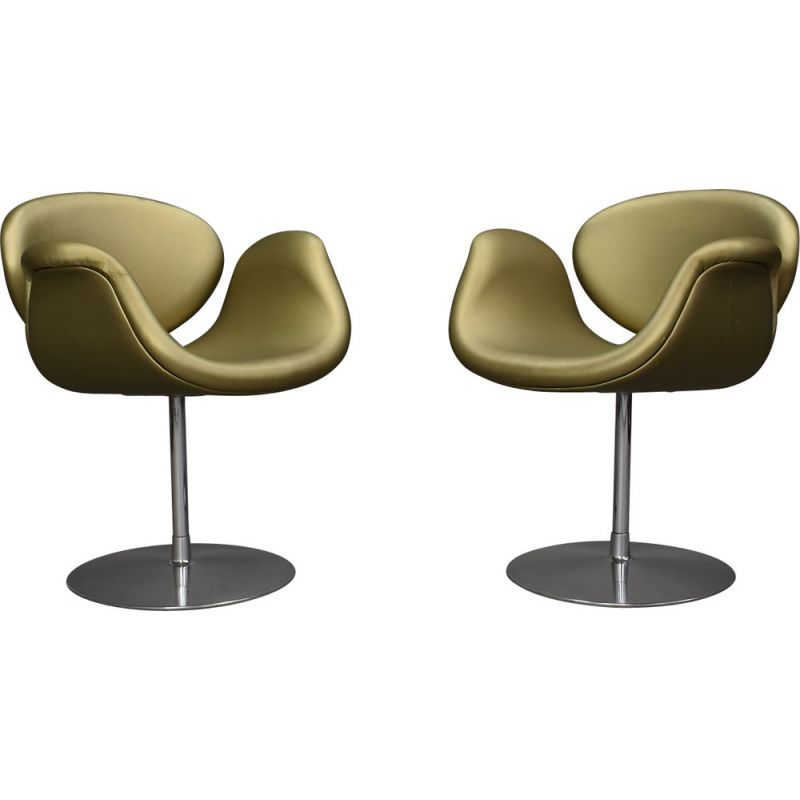 Pair of vintage Little Tulip Chairs by Pierre Paulin for Artifort Netherlands, 1965