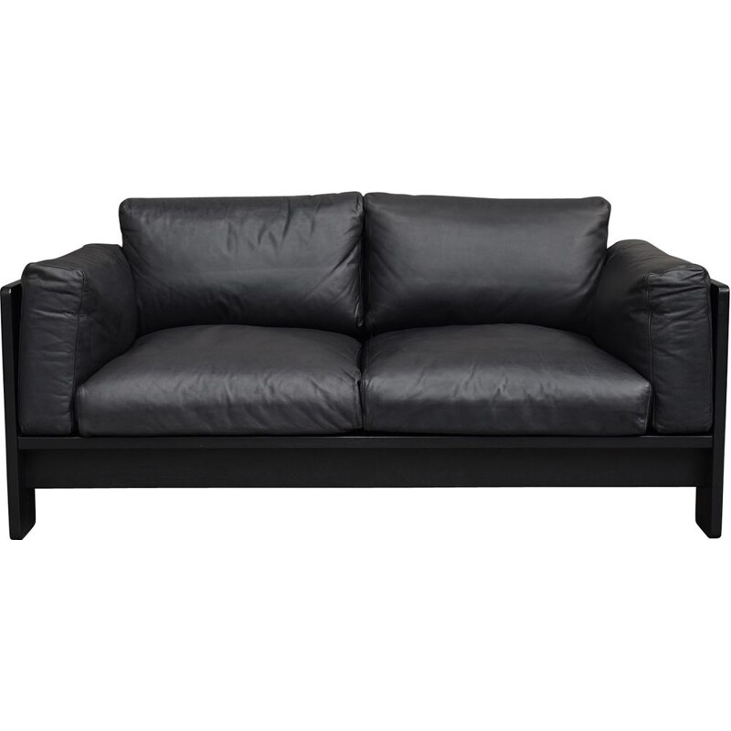 Vintage Black BASTIANO Sofa by Afra and Tobia Scarpa for KNOLL, Italy
