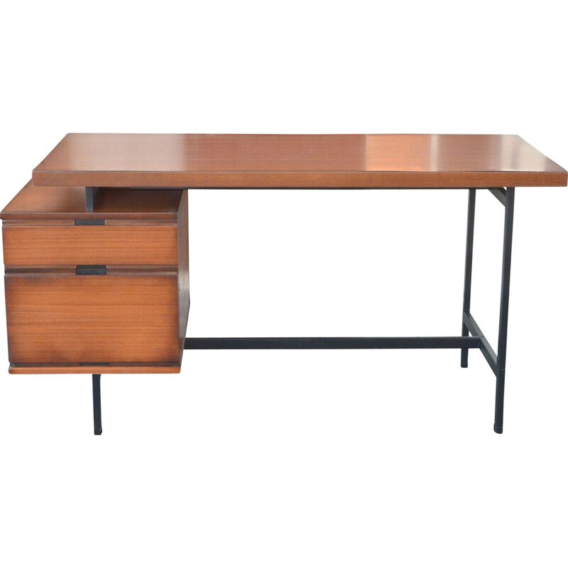 Vintage desk by Pierre Guariche Minvielle edition 1955