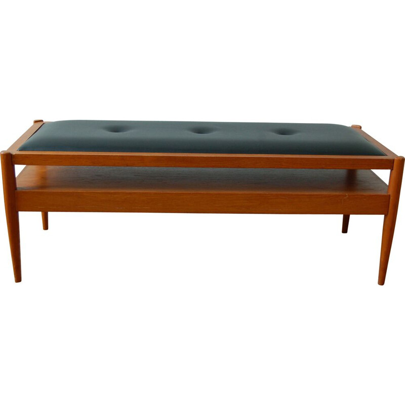 Vintage teak reversible bench  coffee table 1960s