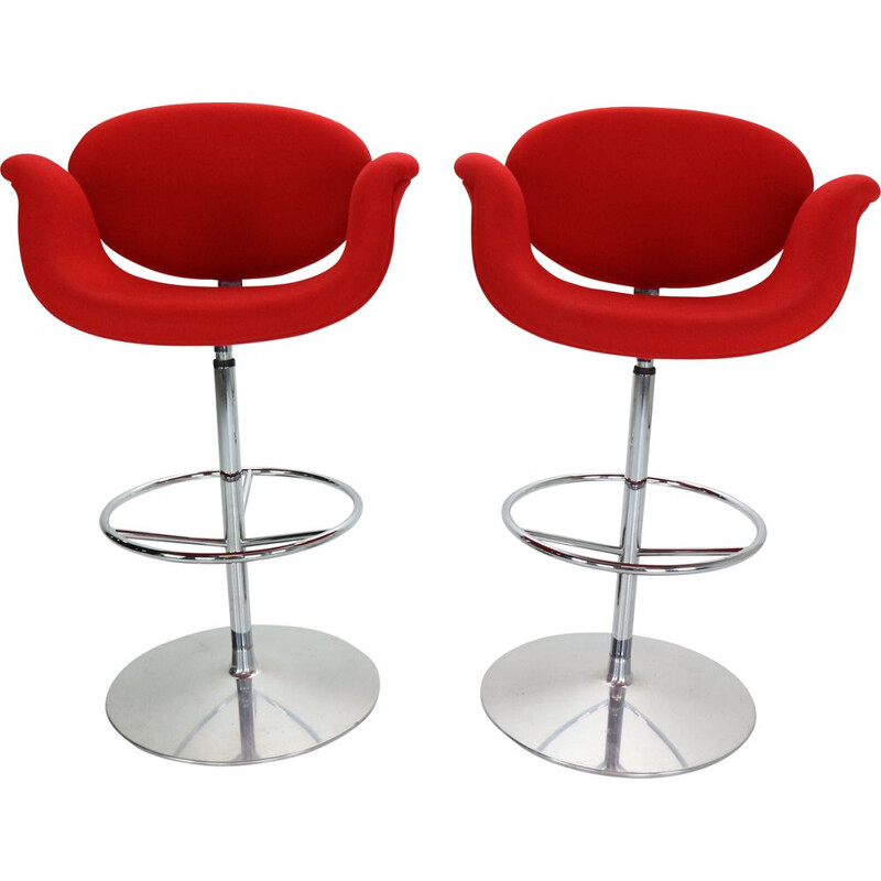 "Pair of  ""Little Tulip"" swiveling barstools by Pierre Paulin and by Artifort, Netherlands 1965"