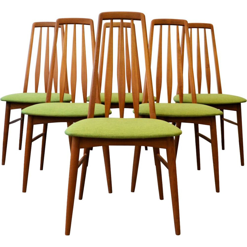 Set of 6 Vintage teak chairs Niels Koefoed Danish