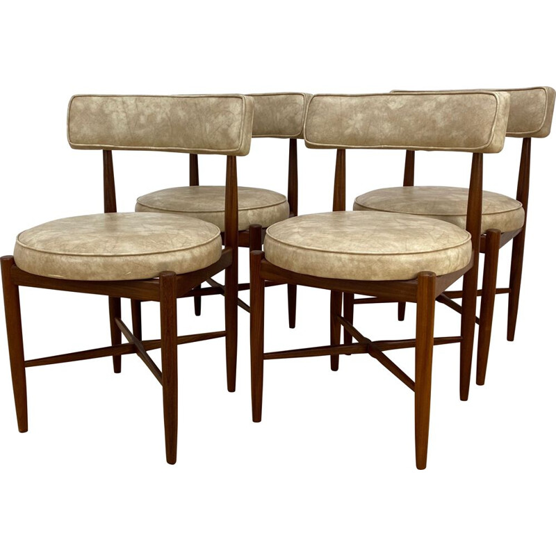 Set of  4 Mid Century Dining Chairs by V.B. Wilkins for G pan 1960s