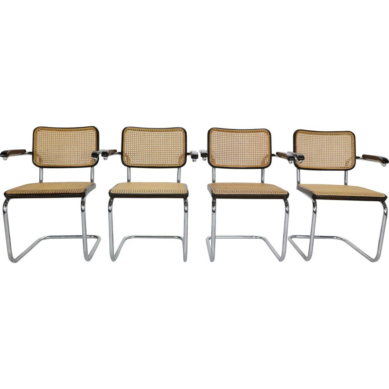 Set of 4 vintage Model-S64 Chairs by Thonet for Marcel Breuer Austria 1929