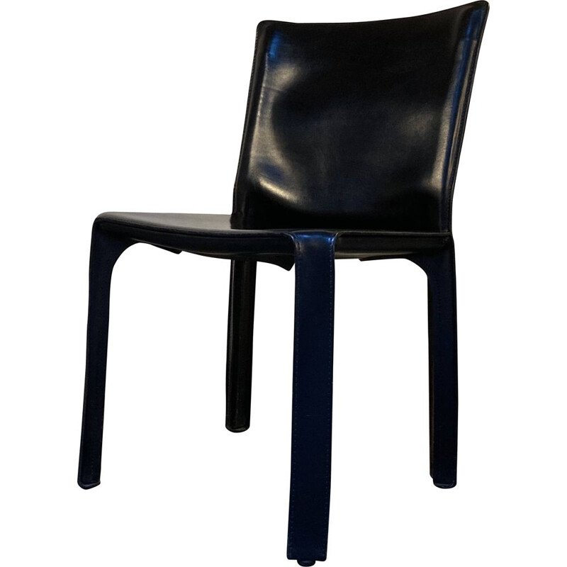 11 vintage Cab 412 chairs Mario Bellini at Cassina