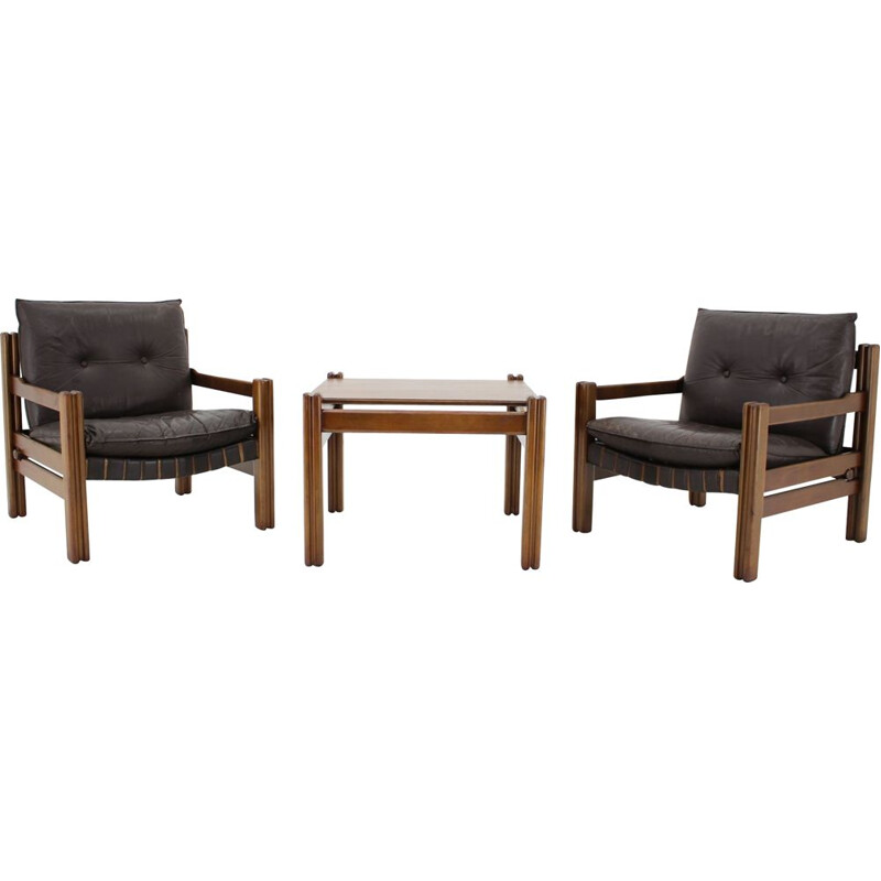Pair of Office Room Set from Ton Thonet, Czechoslovakia 1980s