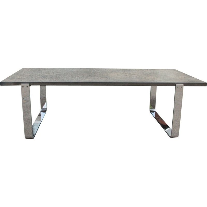 Vintage Coffee table with Chrome  Draenert Oil Shale 1960s