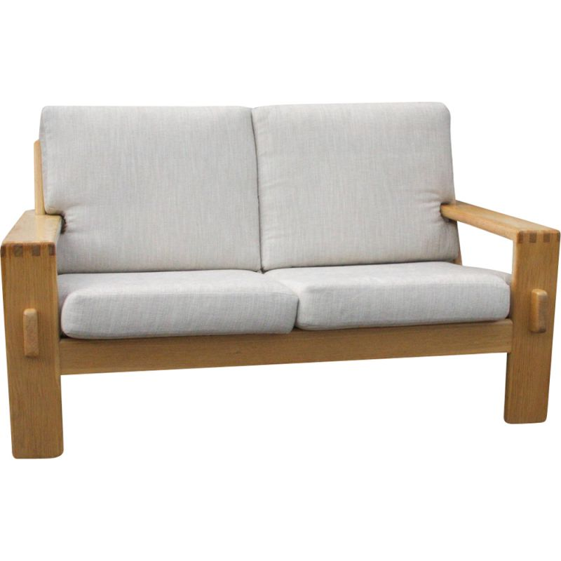 Vintage 2-Seater Sofa from E. Pajamies for Asko in Oak 1970s