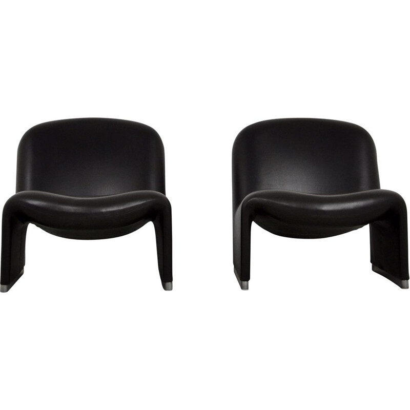 Pair of Vintage Alky skaï Chair by Giancarlo Piretti for Anonima Castelli, 1970s