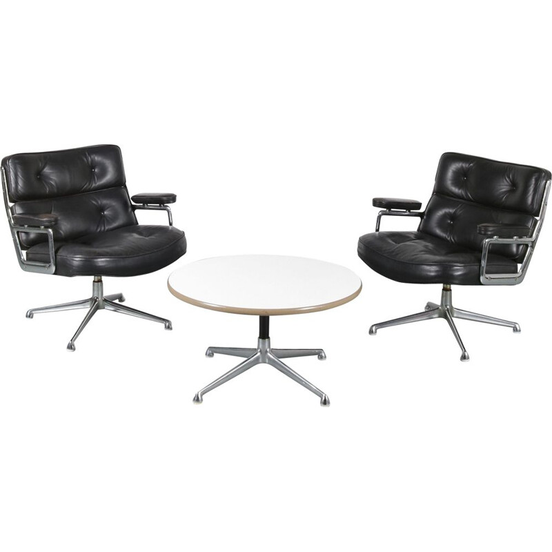 Pair of Vintage Time Life Lobby chairs and table, Eames 1960s
