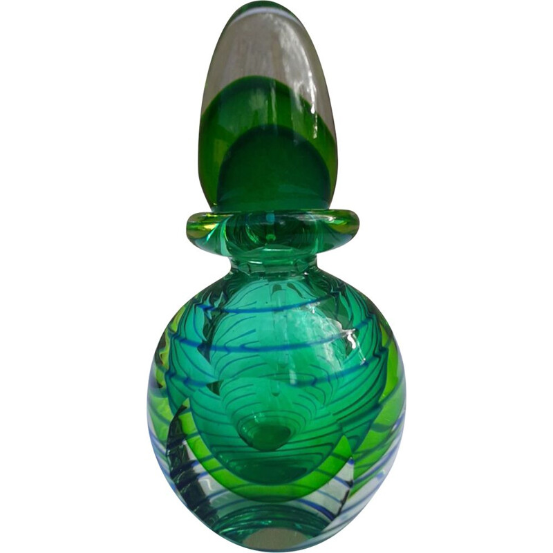 Vintage Perfume Bottle Sommerso Murano multilayer ,Italy 1960