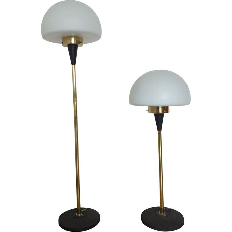 Pair of Floor Lamps Lidokov Designed by Josef Hurka, 1970s