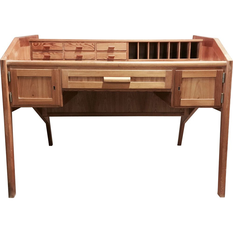 Vintage massive scandinavian desk 1960