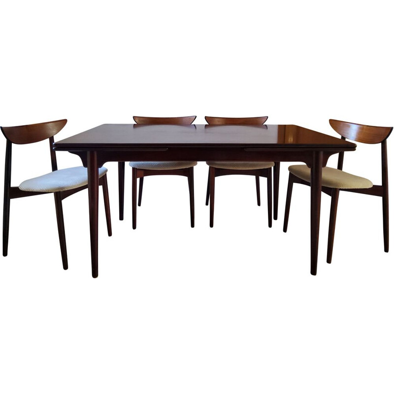 Vintage set of table and 4 chairs Rosewood Harry Ostergaard