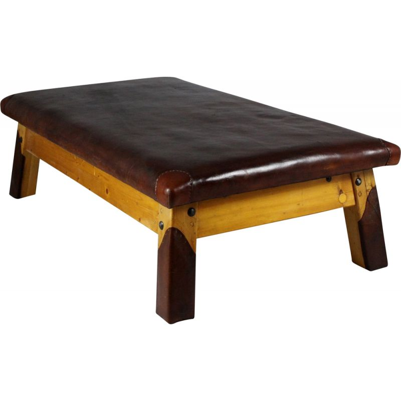 Large vintage Leather Gym Table 1930s