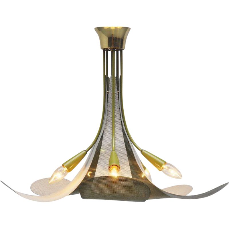 Vintage ceiling lamp in the manner of Mategot French 1950