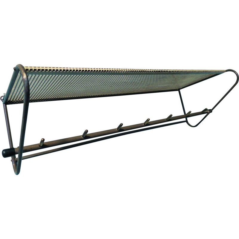 Vintage Perforated Metal Coat Rack Mathieu Matégot 1950s