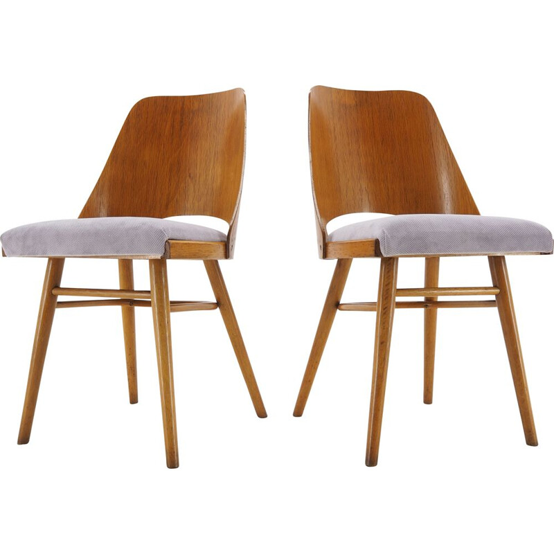 Pair of vintage Dining Chairs, Ton, Designed by Oswald Haerdtl, 1950s