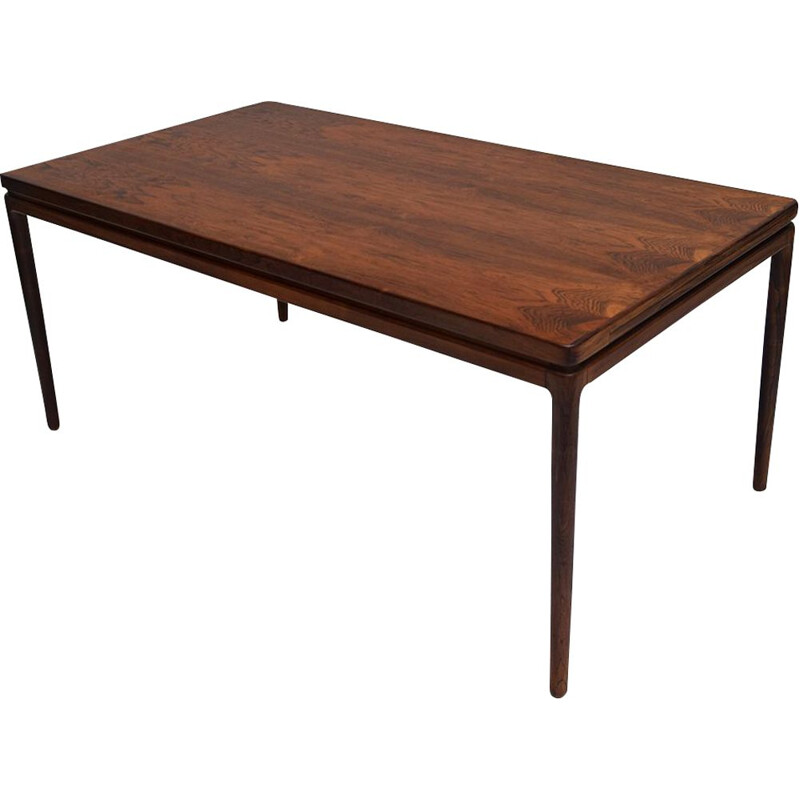 Vintage Dining Table Rosewood by Johannes Andersen for Christian Linneberg Danish 1960s