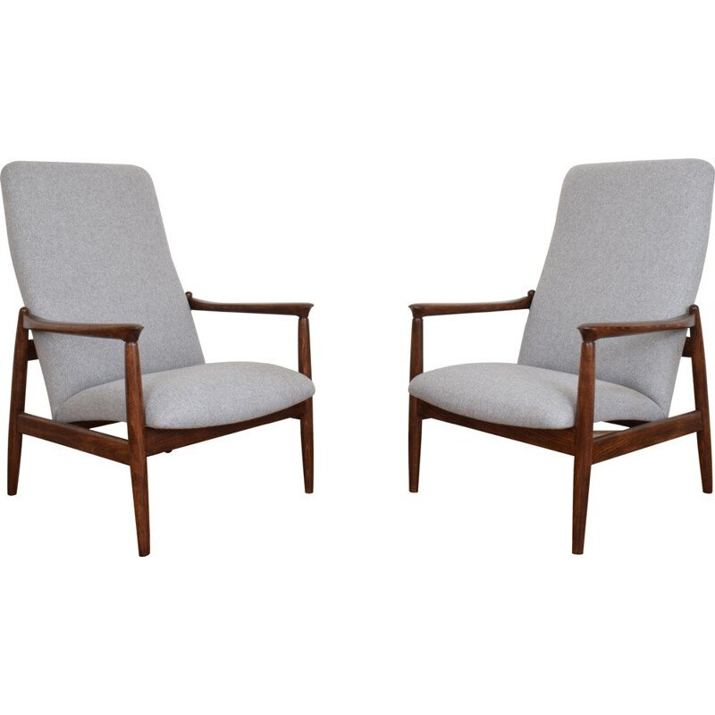 Pair of Mid-Century Lounge Chair by E. Homa Polish 1960s