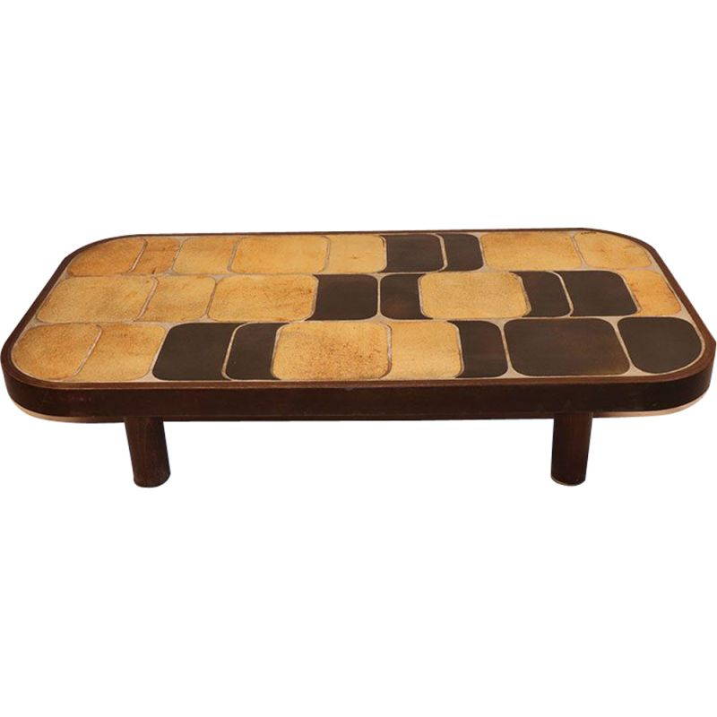 Vintage coffee table Roger Capron  1960