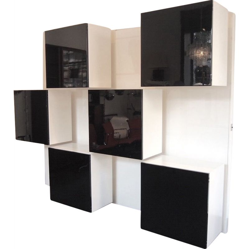 Vintage Wall Storage System by Roberto Monsani for Acerbis