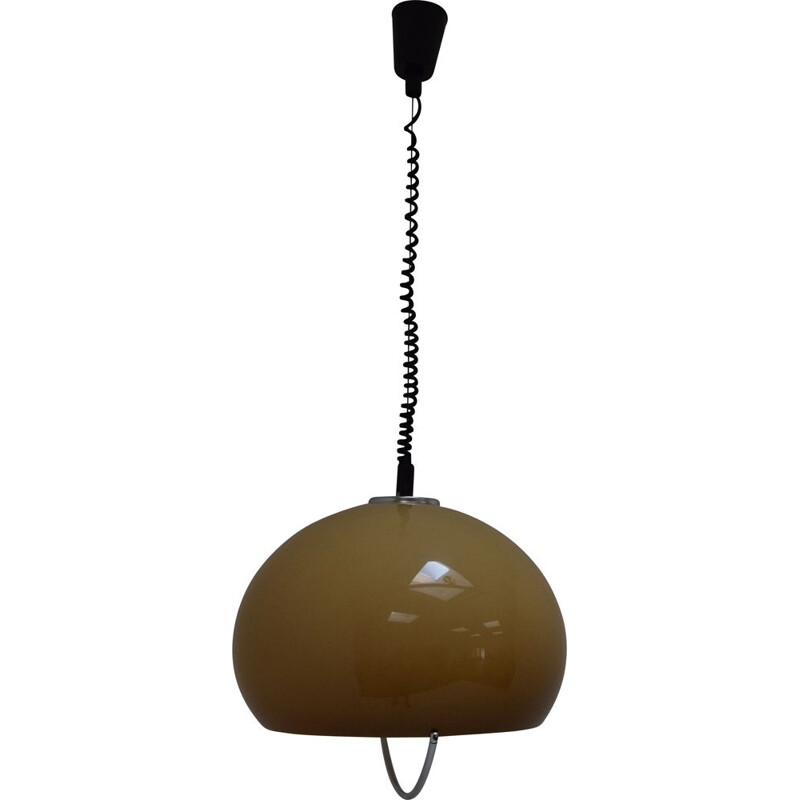 Mid-century Large Pendant Meblo Designed by Harvey Guzzini, Space Age,1970s