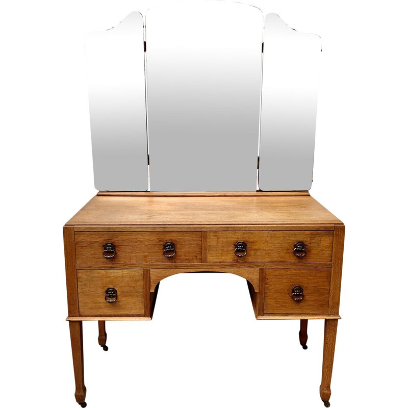 Vintage Dressing Table with Mirror and Drawers  1950