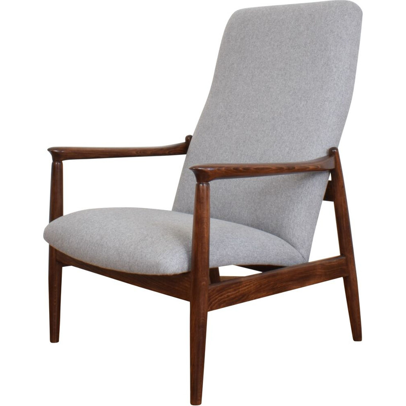 Mid-Century Lounge Chair by E. Homa Polish 1960s