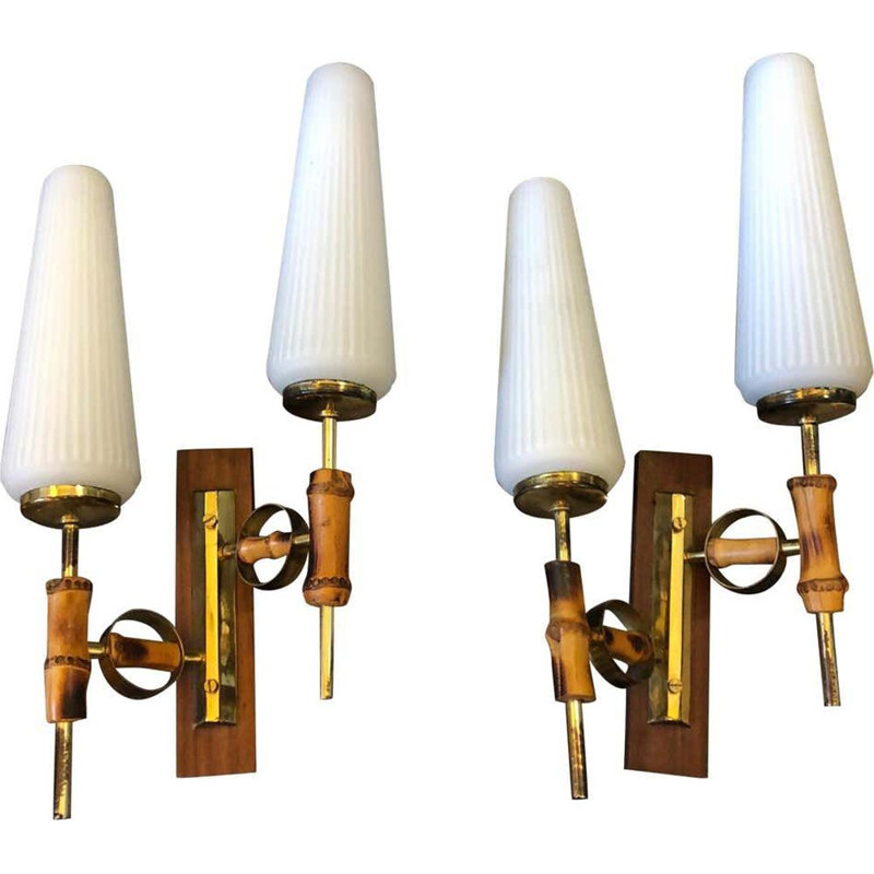 Mid-Century Modern Set of two Italian Wall Sconces 1950