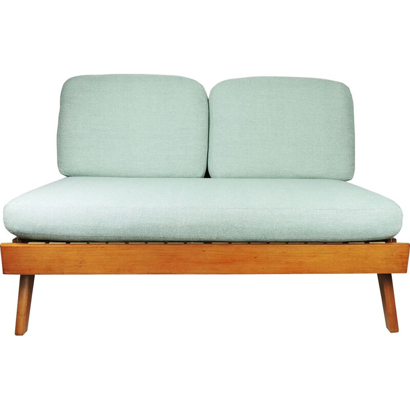 Vintage Agave Fabric Upholstered Day Bed Sofa, 1960s